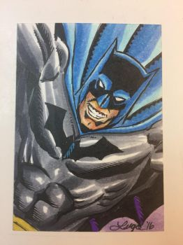 Golden Age Batman Sketch Card by aldoggartist2004