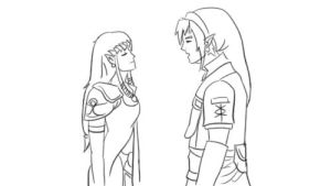 Link Zelda - Kiss by StereotypicallyAsian