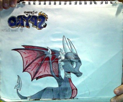 Cynder + The Legend of Spyro logo drawing by TannMann64