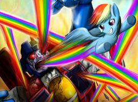 Death Battle: Starscream vs Rainbow Dash version 1 by DotWork-Studio