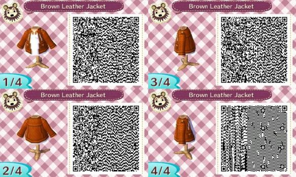 AC:NL QR Brown Leather Jacket Female Ver. by SihaRakhet