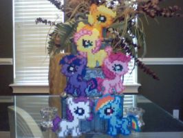 NEW DESIGN! Silly Filly Chibi Perler Pony Set by Perler-Pony