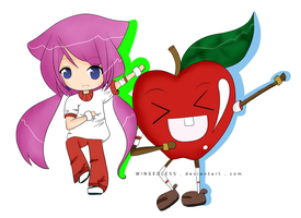 Apple Dansen XD by WINGEDLESS