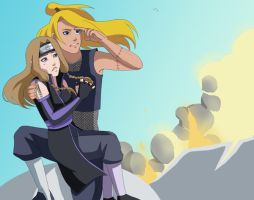 CM: Akina and Deidara Rescue by Chloeeh