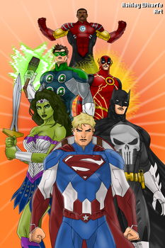 Justice League of Marvel by AshleyWharfe