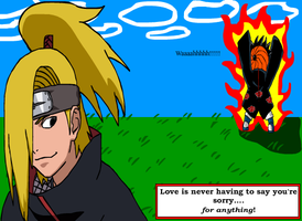 Deidara Part 2 WITH TOBI by Solidishness