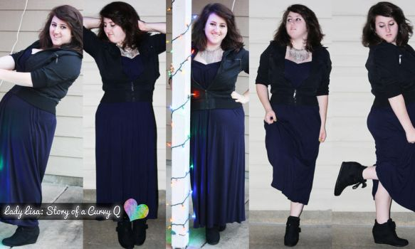 Maxi Dress with a Touch of Wedge by LadyLuck89