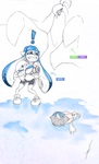 [Sketch] Splatoon X Pokemon by Cartakerjvb