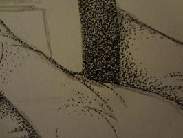 Stippling project 1/5: WIP: Close Up by AoiNekoBlue