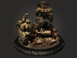 Tau XV-84 XV-81 Battlesuits by UnleasheDDesigns