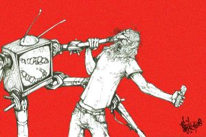 man vs television by nicktheartisticfreak