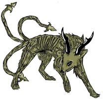 Demon Wolf For The Contest by Japanesedepression