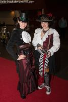 Steampunk Dame and Pirate by Della-Stock