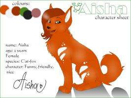 Aisha character sheet by sisi2