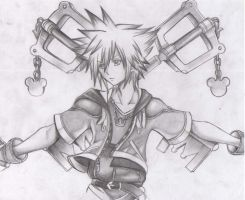 Sora _ Kingdom Hearts by Ryuukeru