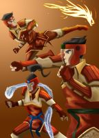 The Fire Ferrets by dede23
