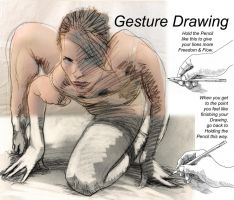 Gesture Drawing lesson 01 Holding pencil by KurtBrugel