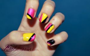 Geometric nails by KiraSTFD