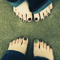 Me and Britt's toes! by Skysofdreams