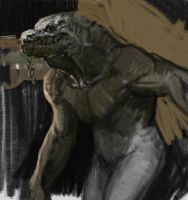 Croc Man Sketch by vladgheneli