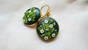 Spring Green earrings by Lena Handmade Jewelry by LenaHandmadeJewelry