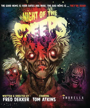 BLU RAY COVER ART - NIGHT OF THE CREEPS by SimonSherry