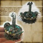 Miniature Gargoyle Cauldron 2 by grimdeva