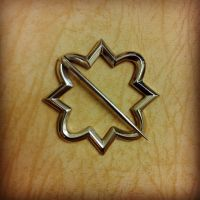 Medieval geometric ring brooch in bronze by MatthiasBlack