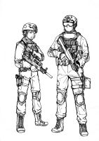 BF4 PLA Assault class (line art) by ThomChen114