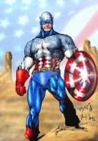 Captain America in the desert by 00AceOfSpades00