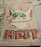 Note book drawing 1 MysticMeep by AlbinaReed