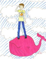 Zhem and Pink Whale by Juunshi