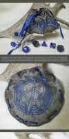 Taffeta Chalice Well Pouch for Dice, Runes etc. by ImogenSmid