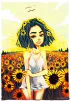 Sunflowers by Avvyraptor