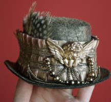 Dusty Gold Steampunk Hat by Pinkabsinthe