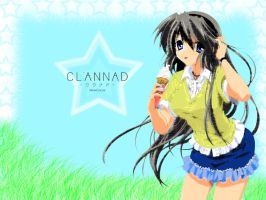 Clannad Wallpaper- Tomoyo Sky by MewCocoa