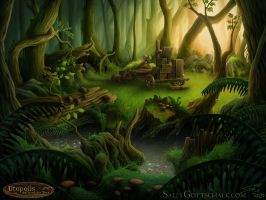 Utopolis Background Forest by Nigreda