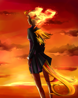 Art: Phoenix Sunset by Elysian-Academy