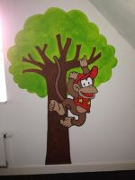 Diddy Kong - Wall Painting by MyRiie