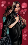 Mr Gold (Rumplestiltskin) and Belle - In my arms by LadyMintLeaf