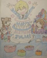 Happy Late Birthday Julia by caged-birds