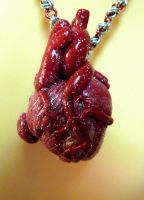 Sparkly Human Heart Necklace by Divulged