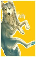 Yellow dog - Speed paint by Wolfunny