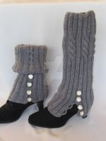 Hand-knitted Legwarmers  Knit boots cover by MagicalString
