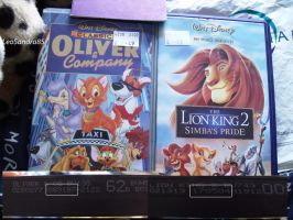 British-UK VHSs - TLK and Oliver and Company by LeoSandra85