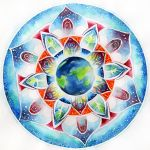 Earth Mandala Ice by LOVE-Mandala