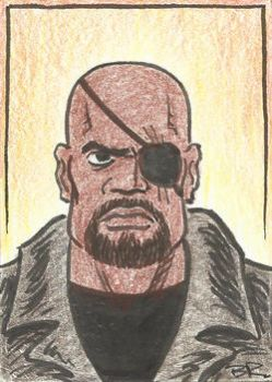 Nick Fury from Captain America: The Winter Soldier by BudRogers