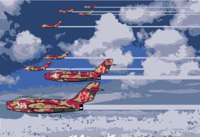 Mig 19 'farmer' squadron 1 by poopDC
