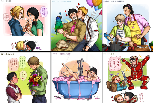 30 Day Challenge + Favourite SnK Pair (Day 7-12) by fellow-traveller