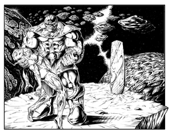 Thanos Defeats Silver Surfer by RAM by ramstudios1